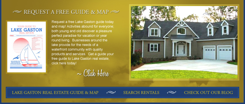 Request free Lake Gaston Guide and Map